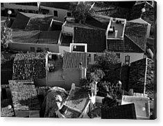 Rooftops In Plaka Acrylic Print by George Atsametakis