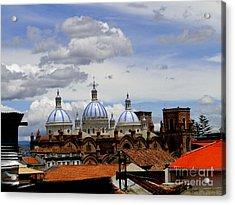 Rooftops Of Cuenca Acrylic Print by Al Bourassa