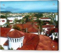 Rooftops Of Santa Barbara Acrylic Print