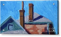 Rooftops On State Acrylic Print by Katrina West