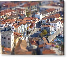Acrylic Print featuring the photograph Rooftops by Vicki Spindler