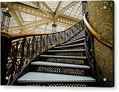 Rookery Building Atrium Staircase Acrylic Print