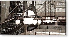 Rookery Building Lights Acrylic Print