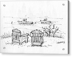 Room For Two Monhegan Island 1993 Acrylic Print