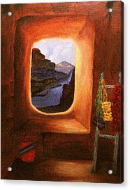 Room With A View Acrylic Print by Janis  Tafoya
