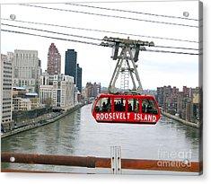 Roosevelt Island Tram Acrylic Print by Ed Weidman