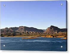 Roosevelt Lake Arizona Acrylic Print by Christine Till