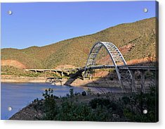Roosevelt Lake Bridge Arizona Acrylic Print by Christine Till