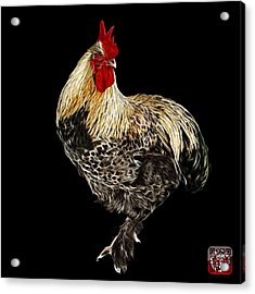 Acrylic Print featuring the painting Rooster 3166 F by James Ahn