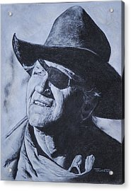 Rooster Cogburn Acrylic Print by Denise Thurston Newton