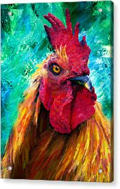 Rooster Colorful Expressions Acrylic Print