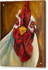 Rooster Face Acrylic Print