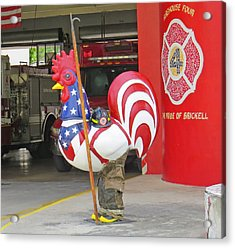 Rooster Fireman Acrylic Print
