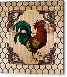 Rooster I Acrylic Print by April Moen