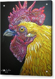 Rooster Profile Acrylic Print