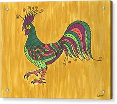 Rooster Strut Acrylic Print