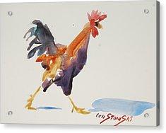 Rooster Study 2 Acrylic Print by Len Stomski