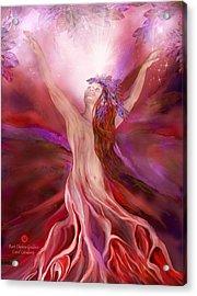 Root Chakra Goddess Acrylic Print