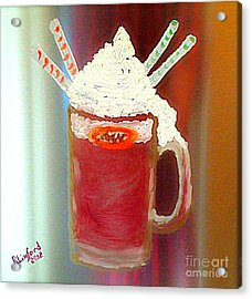 Rootbeer Friends Acrylic Print by Richard W Linford