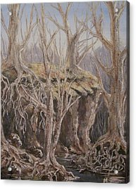 Acrylic Print featuring the painting Roots by Megan Walsh