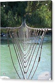 Rope Foot Bridge Acrylic Print
