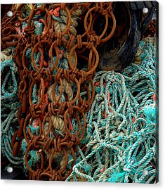 Ropes And Rusty Wires Acrylic Print