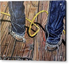 Roping Boots Acrylic Print by Marilyn  McNish