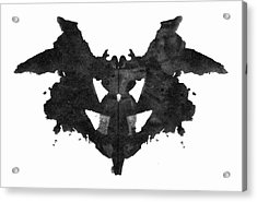 Rorschach Inkblot, 1921 Acrylic Print