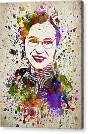 Rosa Parks In Color Acrylic Print by Aged Pixel
