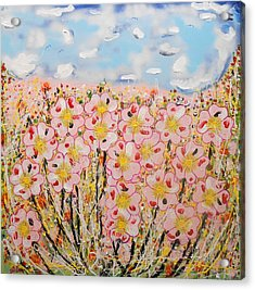 Rosa Ruby Flower Garden Acrylic Print