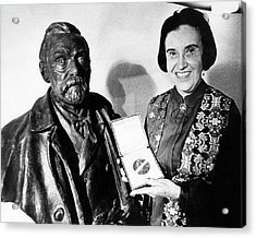 Rosalyn Yalow With Her 1977 Nobel Prize Acrylic Print by Emilio Segre Visual Archives/american Institute Of Physics