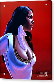Rosario Dawson Acrylic Print by Paul Meijering