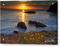 Rosario Head Sunset Acrylic Print by Mark Kiver