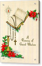 Rosary Good Wishes Acrylic Print by Munir Alawi
