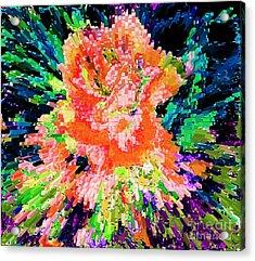 Rose An Abstract Modern Contemporary Digital Art Acrylic Print