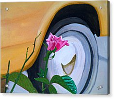 Rose At The Curb Acrylic Print