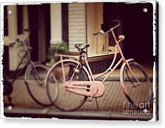 Rose Bike Acrylic Print by Mary-Lee Sanders