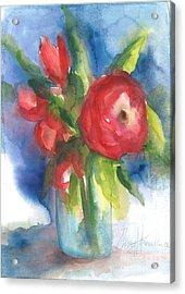 Rose Blooming Acrylic Print
