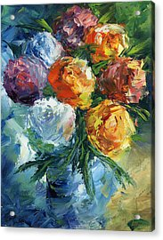 Rose Bouquet Acrylic Print by Ash Hussein