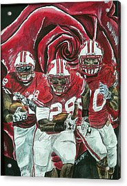 Rose Bowl Badgers Acrylic Print