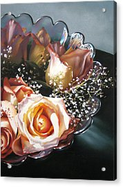 Rose Bowl Acrylic Print by Dianna Ponting
