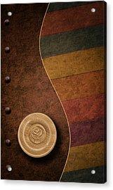 Rose Button Acrylic Print