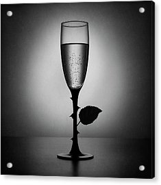 Rose Champagne(an Improved Version) Acrylic Print by Victoria Ivanova