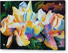 Acrylic Print featuring the painting Rose Cluster Half by Kathy Braud