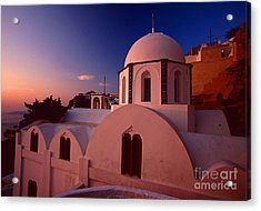 Rose Color Church Acrylic Print