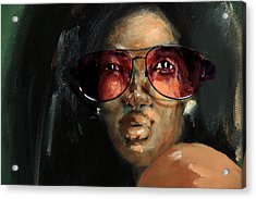 Rose Colored Glasses Acrylic Print