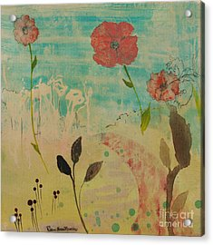Rose Colored Path Acrylic Print by Robin Maria Pedrero