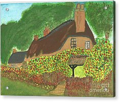 Rose Cottage Acrylic Print