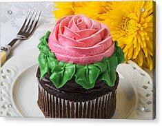 Rose Cupcake Acrylic Print by Garry Gay