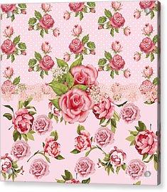 Rose Elegance Acrylic Print by Debra  Miller